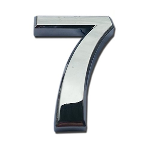 Do4U 2 Packs House & Mailbox Number 3D Radian Metal Number Self-stick Mailbox Number with Reflective Bronze Plating, For Door, House, Mailbox, Street Address Sign (2 inches, 7) (Decorative Metal Numbers)