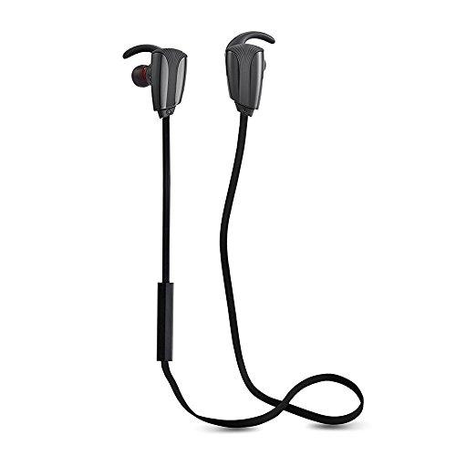 Wireless Earphone Sweat-proof Ear-buds Sports Running Bluetooth Headphone Heads-free with Micro Phone (aptX, Bluetooth 4.0, CVC 6.0 Noise Canceling, 8 Hours Play Time)