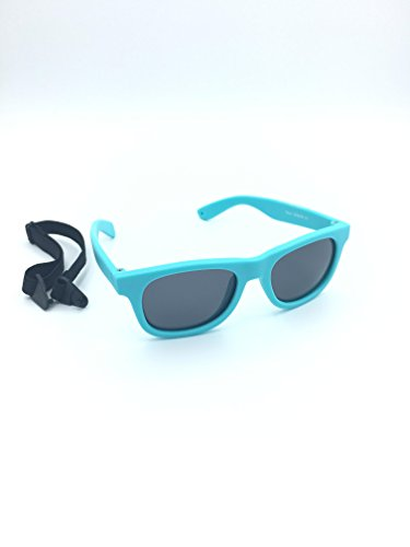 Kids / Baby Wayfarers Polarized Sunglasses With Strap 100% UVA & UVB - Infant Sunglasses Strap With