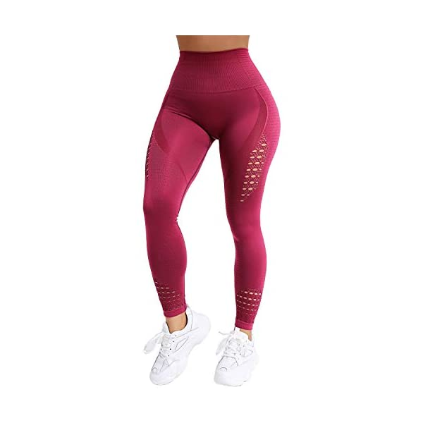 Normov Hollow Compression Leggings For Women Gym Athletic Workout Tights
