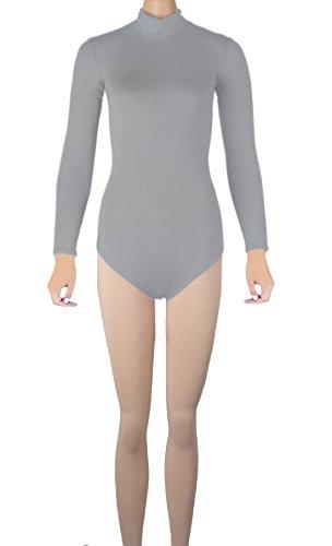 Howriis - Body - para mujer gris claro