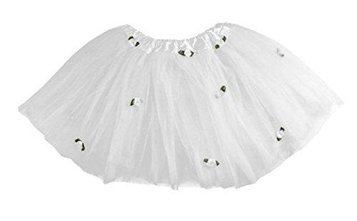 White Rosebud Tutu in Tulle for (Rosebud Princess Costumes)