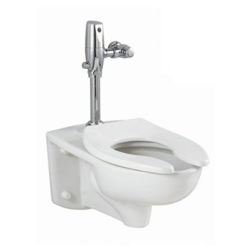 Afwall Standard Toilet American (American Standard 3351.511.020 Afwall Universal Floor Mount Toilet Bowl with Everclean and 1.1 Gpf Selectronic Flush Valve)