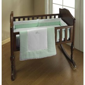 Babykidsbargains RIC Rac Cradle Bedding, Green, 18