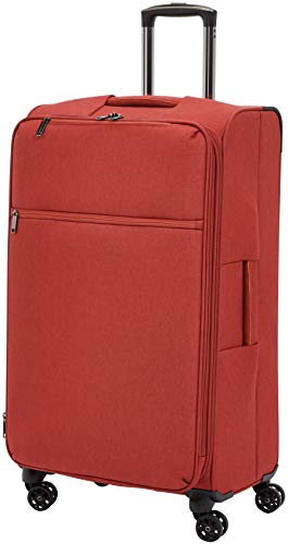 (AmazonBasics Belltown Softside Rolling Spinner Suitcase Luggage - 29 Inch, Heather Red)