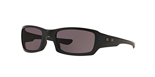 Oakley Mens Fives Squared Sunglasses (OO9238) Black Matte/Grey Plastic - Non-Polarized - 54mm