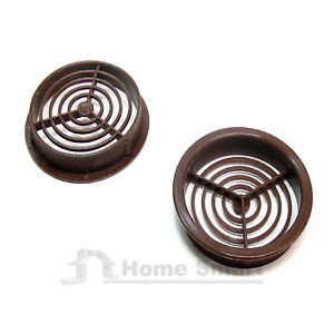 50 x 70MM Brown Cheap Round Soffit Air Vents / Upvc Push in Roof Disc / Fascia by Manthorpe