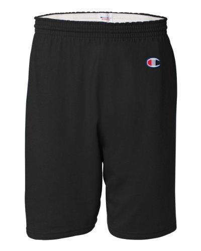 Champion Men's  6-Inch Black   Cotton Jersey Shorts - Medium