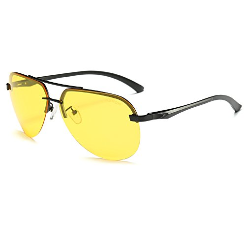 SPEEDM Classic Polarized Metal Aviator Sunglasses for Men Women Mirrored Shades with UV 400 - Yellow Aviators Mirrored
