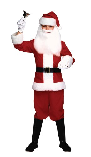 Child Santa Claus Costumes (Child's Santa Claus Suit Child Costume - Large)