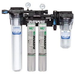 Twin Water Filter System (Everpure EV933042 High Flow CSR Twin-MC2 System 18000 gallon capacity)
