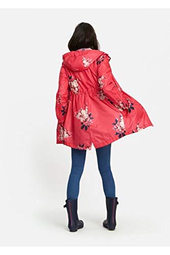 US8 Bloom Print Impermeable Capa UK12 Joules EU40 Packaway z Womens Golightly Raspberry Impreso wqW1zH7