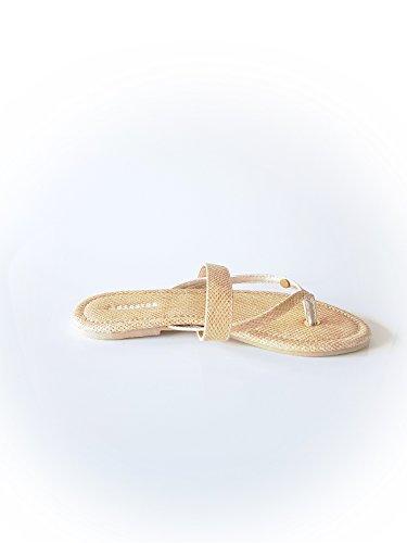 GAASTRA Damen Sandalen aus Kunstleder in Braun Größe 37