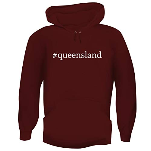 One Legging it Around #Queensland - Hashtag Men's Funny Soft Adult Hoodie Pullover, Maroon, XX-Large