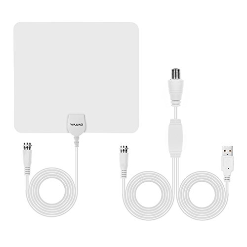 HDTV Antenna TV Antenna Indoor Amplified TV Antenna 50 Mile Range with Detachable Amplifier Signal Booster and Updated Version 10FT Long High Performance Coaxial Cable(white)