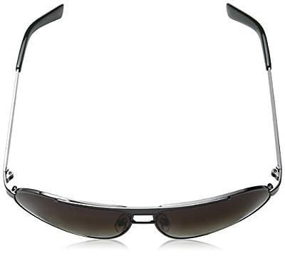 Calvin Klein Men's CWR140S-033 Aviator Sunglasses, Dark Gunmetal, 16 mm