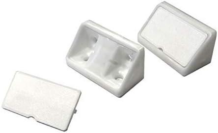 EisenRon - Escuadras para muebles (20 unidades, rectangular), color blanco