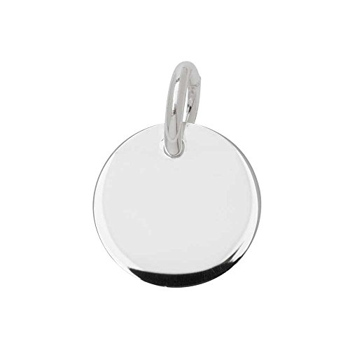 4 qty. Sterling Silver Round Engravable Blank with Jump Ring (12mm) By ()