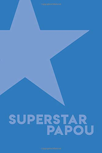 """Superstar Papou Notebook  Blue Cover   6""""x9"""" Blank Notebook With 120 Lined Pages"""