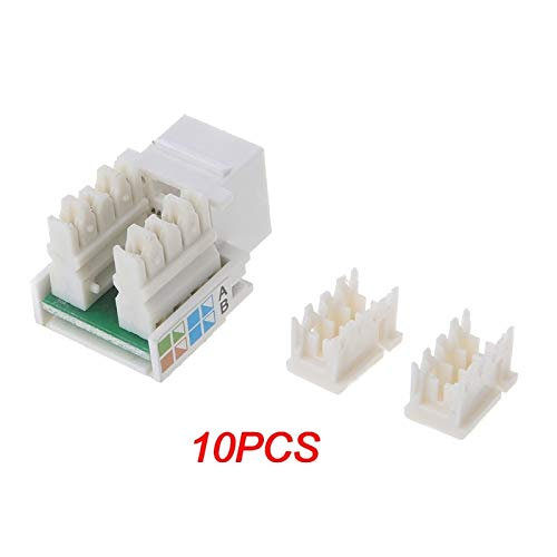 Computer Cables 10Pcs CAT5E UTP Network Module Tool-Free RJ45 Connector Socket Adapter New and - (Cable Length: Other)