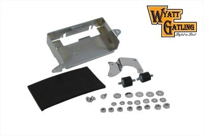 Chrome Battery Carrier Kit VT 42-9917 FLHS FXE