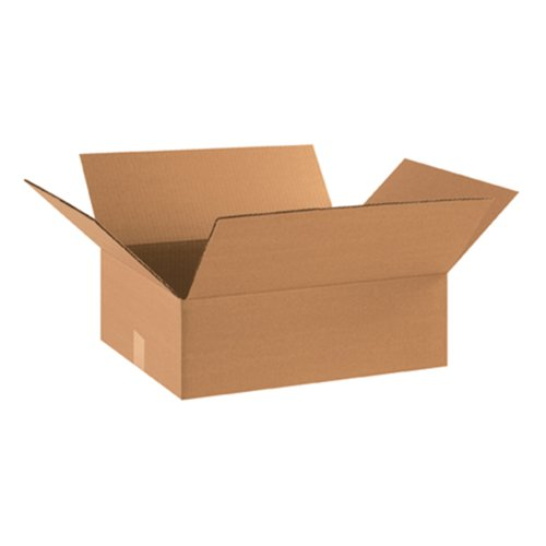 Aviditi 18146 Flat Corrugated Box, 18'' Length x 14'' Width x 6'' Height, Kraft (Bundle of 25) by Aviditi