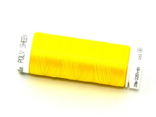 Mettler Polysheen Polyester Machine Embroidery Thread 200m 200m 600 Citrus - each