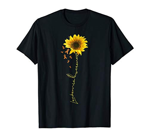 - September leukemia cancer awareness month sunflower t shirt
