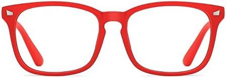 4731e6cb4cb5 TIJN Blue Light Blocking Glasses Square Nerd Eyeglasses Frame Anti Blue …