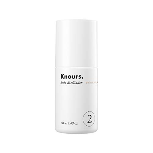 Knours. – Skin Meditation Gel Cream Natural Lightweight Soothing Hydrating Non-comedogenic Gentle Moisturizer for Sensitive, Oliy and Breakout-prone Skin 50ml 1.69 fl oz.