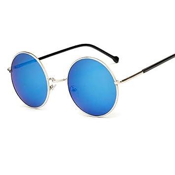c76b7e85ce BAMONA Oversized Round Circle Frame Mirror Sunglasses Purple Super Women  Men Cheap UV400 Sun Glasses Brand Design Female Male blue  Amazon.in  Beauty