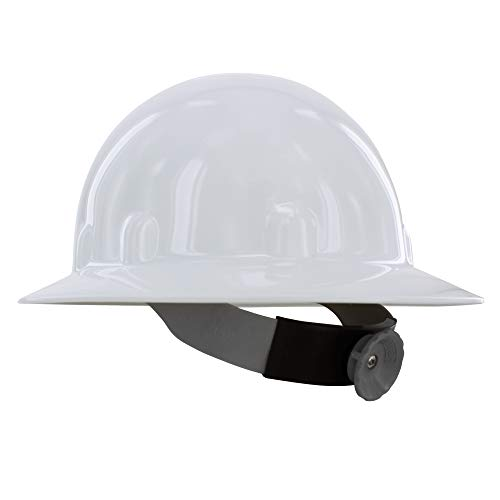 Fibre-Metal by Honeywell E1RW Supereight Thermoplastic Full Brim Hard Hat with 8 Pt. Ratchet Suspension, White by Honeywell (Image #7)