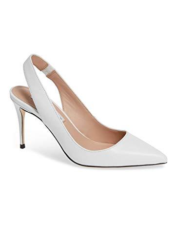 (James Chan Women Shoes Fallon Slingback Optic White Kidskin 10 M US)