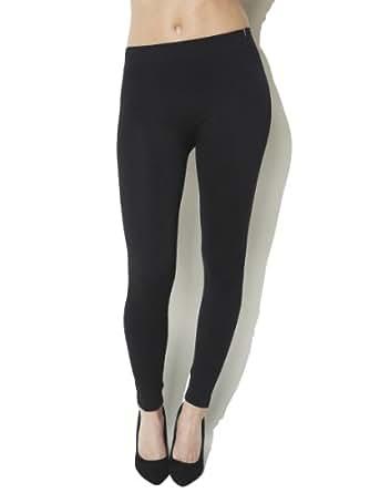 Arden B. Women's Diamond Lace Pattern Legging M/L Black