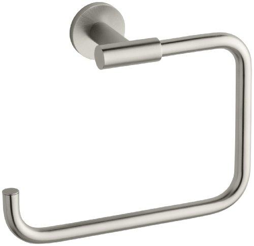 (KOHLER K-14456-BN Stillness Bathroom Towel Ring, Vibrant Brushed Nickel )