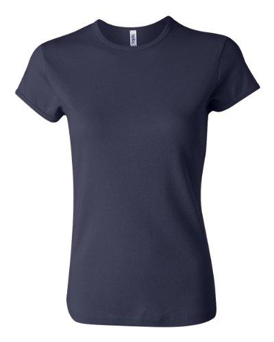 Bella Ladies Baby Rib Short Sleeve Crew Neck T-shirt. 1001 - XX-Large - Navy ()