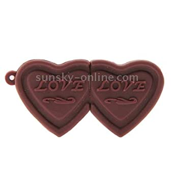 Lekai Multifunctional Meet Different Needs Color : Color1 Dual Hearts Style 16GB USB Flash Disk,Easy to Carry Around.