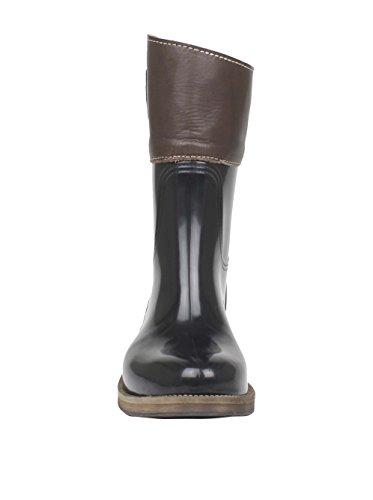 Cubanas Damen Stiefel Stiefeletten Horsie 102 Black-Chestnut 39