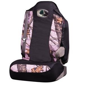 Mossy Oak Universal Pink Camo Bucket Seat Cover (Mossy Oak Break-Up Camo, Durable Microfiber Fabric, Includes One Seat Cover, Sold Individually)