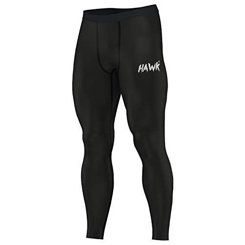 Hawk Sports Mens Compression Pants Base Layer Running Workout Muay Thai Jiu Jitsu MMA BJJ Spats Leggings Tights for Men (Black, 32'' Waist) (Best Base For Mma)