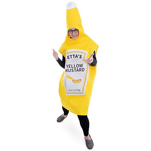 Boo Inc. Yellow Mustard Halloween Costume | Classic Condiment Funny Food Outfit]()