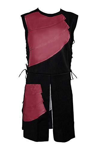 Mens Medieval Victorian Waistcoat Vest Renaissance Warrior Waistcoat Sleeveless Vests Red