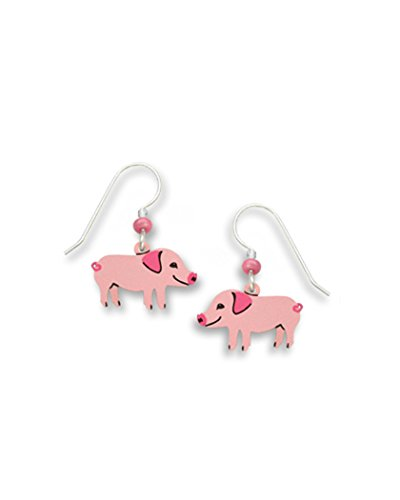 Pink Piggy Pig Dangle Earrings Made in USA by Sienna Sky 1423