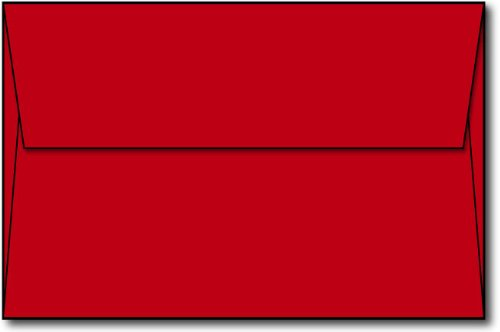 "Red A9 Envelopes, 5 3/4"" x 8 3/4"" - 100 envelopes - Desktop Publishing Supplies™ Brand Envelopes"