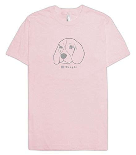 E-Duke Design Beagle My Pet Graphic T-Shirts (Light Pink/Silver, X-Large)