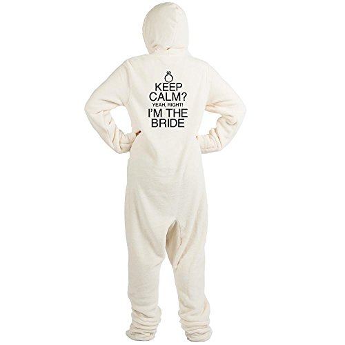CafePress - Keep Calm? Bride - Novelty Footed Pajamas, Funny Adult One-Piece PJ Sleepwear ()