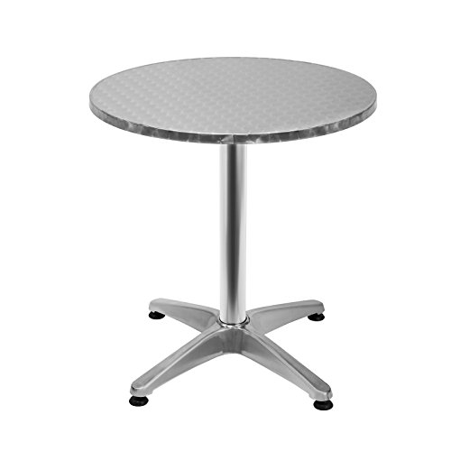 Deuba Table Haute 4 pieds Table Ronde de Bar Table de ...