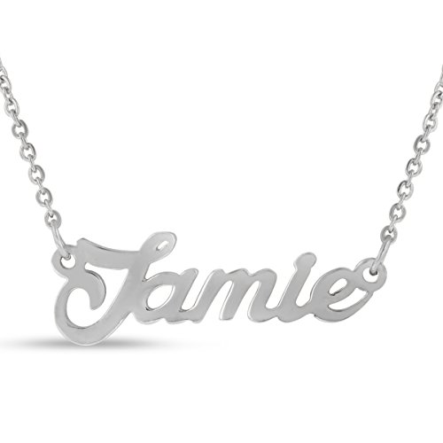 (Beam Reach Jamie Nameplate Necklace in Silver)