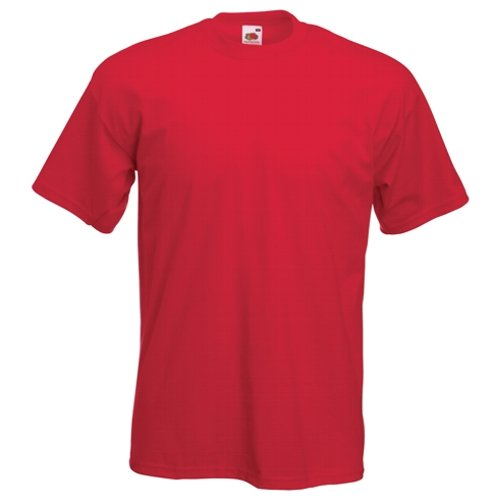 Fruit of the Loom Super Premium T-Shirt, rot XXL