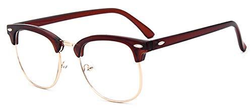 Clear Glasses Women Classic Optics Eyeglasses Men Spectacle Frame Transparent Lens Optical Aviator ()